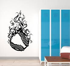 Vinyl Wall Decal Baseball Ball Fireball Sport Team Game Boy Room Stick Wallstickers4you