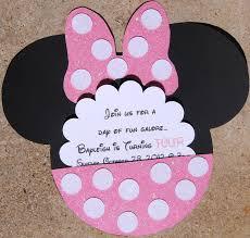 Special Listing 35 Invitaciones De Cumpleanos De Minnie Mouse