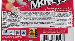 small bowl marshmallow mateys cereal
