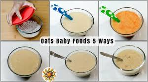 oats baby food recipe 5 ways baby