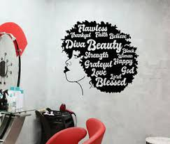 Vinyl Wall Decal African Girl Hairstyle Hair Motivation Words Stickers 3969ig Ebay
