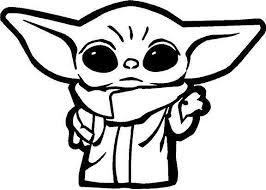 Baby Yoda Outline Vinyl Decal Sticker Cute In 2020 Star Wars Drawings Star Wars Stickers Yoda Sticker