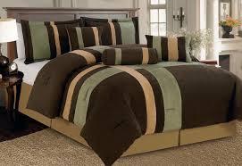 nice presence green and brown bedding