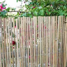 Backyard X Scapes 6 Ft H X 16 Ft L Natural Raw Split Bamboo Slat Fencing 20 Bsn The Home Depot Bamboo Fence Fence Panels Garden Fence Panels