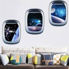 3d Waterproof Star Wall Stickers Planet Spaceship Fake Window Living Room Bedroom Decorative Painting Buy Wall Decals Buy Wall Sticker From Lemonj 2 81 Dhgate Com