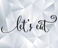 Lets Eat Wall Decal Etsy