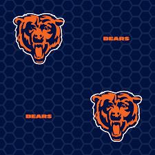 chicago bears logo pattern blue