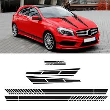 2020 Long Stripe Graphics Car Racing Side Body Hood Mirror Decals From Sharplace 10 49 Dhgate Com