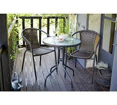 patio set metal garden table