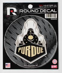 Purdue University Logo Round Decal Car Window Sticker 4