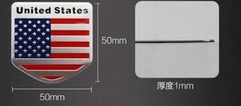 Us Usa Flag Sticker American Emblem Metal Badge Decal Car Auto Logo Universal Myfriendsdentist Com