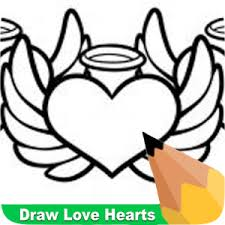 how to draw love hearts app