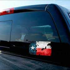 Tattered Texas Flag Lone Star Tx State Decal