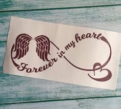 Forever In My Heart Infinity Vinyl Decal Memorial Window Etsy