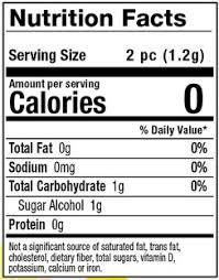 nutrition facts tarts glee gum