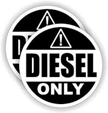 Amazon Com Diesel Fuel Only Vinyl 3 Round Decal Sticker Label Fuel Gas Door Label Weatherproof Home Improvement