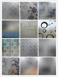 plain custom etched glass panels