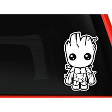 Children S Bedroom Boy Decor Decals Stickers Vinyl Art Baby Groot Guardians Of The Galaxy Car Truck Laptop Decal Sticker 5 5 Brown Proflow Cl