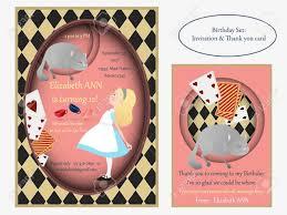 Alicia En El Pais De Las Maravillas Gato De Cheshire Invitacion