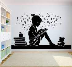 Book Kids Vinyl Wall Decal School Education Quote Reading Room Etsy
