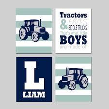 Tractor Kid Decor Tractor Nursery Art Tractor Room Decor Etsy