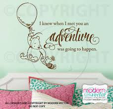 Winnie The Pooh Quote Vinyl Wall Decal Lettering Classic Pooh Style Adventure Ebay