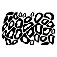 Leopard Animal Print Wall Vinyl Circle Stickers Rings Decals Black Walmart Com Walmart Com
