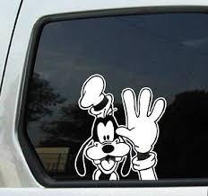 Goofy Waving Peeking White 6 Car Truck Vinyl Decal Art Wall Sticker Disney Mick Ebay Disney Car Decals Disney Decals Car Decals Vinyl