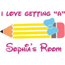 A Student Classrooom Student School Study Wall Decal Custom Vinyl Wall Art Personalized Name Baby Girls