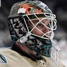 """Tendy Gear on Twitter: """"Aaron Dell San Jose Sharks Mask painted by ..."""