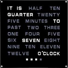 Amazon.com: Tech Tools LED Word Clock - Displays Time as Text ...