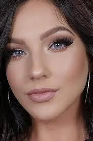 natural makeup blue eyes cat eye makeup