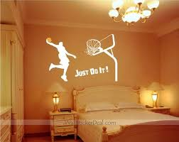 Just Do It Dunk Basketball Wall Stickers Wall Decor Stickers Basketball Wall Basketball Wall Decals