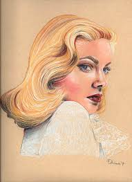 Lauren Bacall Drawing by Adriana Holmes