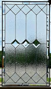 elegant squares stained glass window
