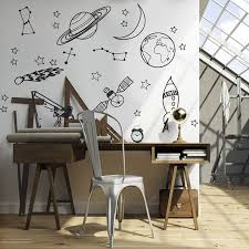 Large Astronomy Space Planet Star Wall Sticker Baby Nursery Kids Room Cartoon Astronomy Space Wall Decal Play Room Vinyl Decor Wall Stickers Aliexpress