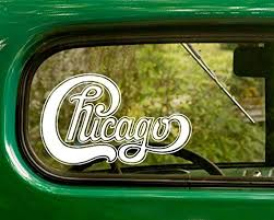 Amazon Com 2 Chicago Decal Rock Band Stickers White Die Cut For Window Car Jeep 4x4 Truck Laptop Bumper Rv Home Kitchen