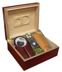 diplomat 40 cigar humidor gift sets ebay