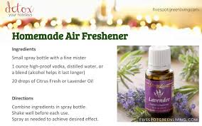 homemade aromatherapy spray five spot