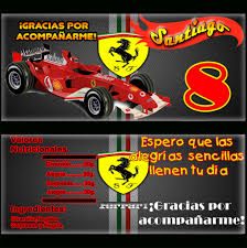 Idea Invitaciones Unica Gratis Ferrari Ondedrawer