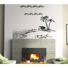 Shop Paradise Beach Wall Art Sticker Decal Overstock 11708771