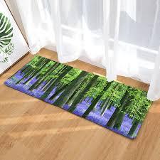 lavender garden forest printed kitchen