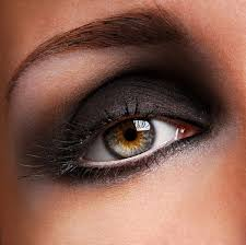 beautiful black eye makeup stock photo
