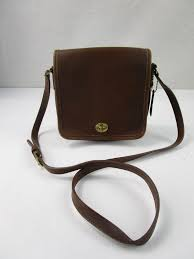 brown leather small shoulder purse