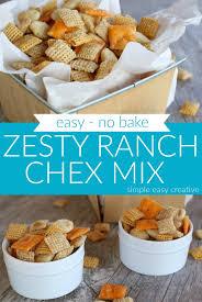 zesty ranch chex mix hoosier homemade
