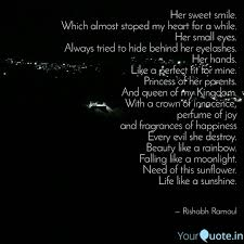 her sweet smile which al quotes writings by rishabh ramoul