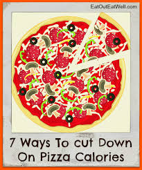 cut down on pizza calories