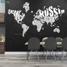 Large Size World Map Vinyl Wall Sticker Cluster Name Clusters Country Names Words Cloud Countries History Exquisite Decal Yt2348 Wall Stickers Aliexpress