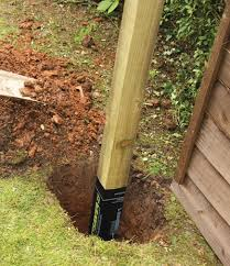 100mmx100mm Square Fence Post W Postsaver Fencing Stewart Timber