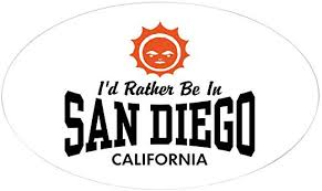 Amazon Com Cafepress San Diego Oval Bumper Sticker Euro Oval Car Decal Home Kitchen